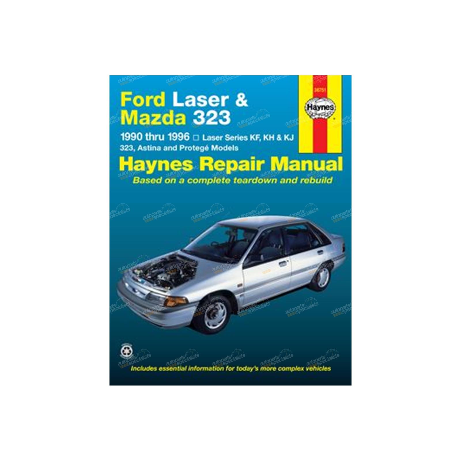 haynes car repair manual book ford laser kf kh kj