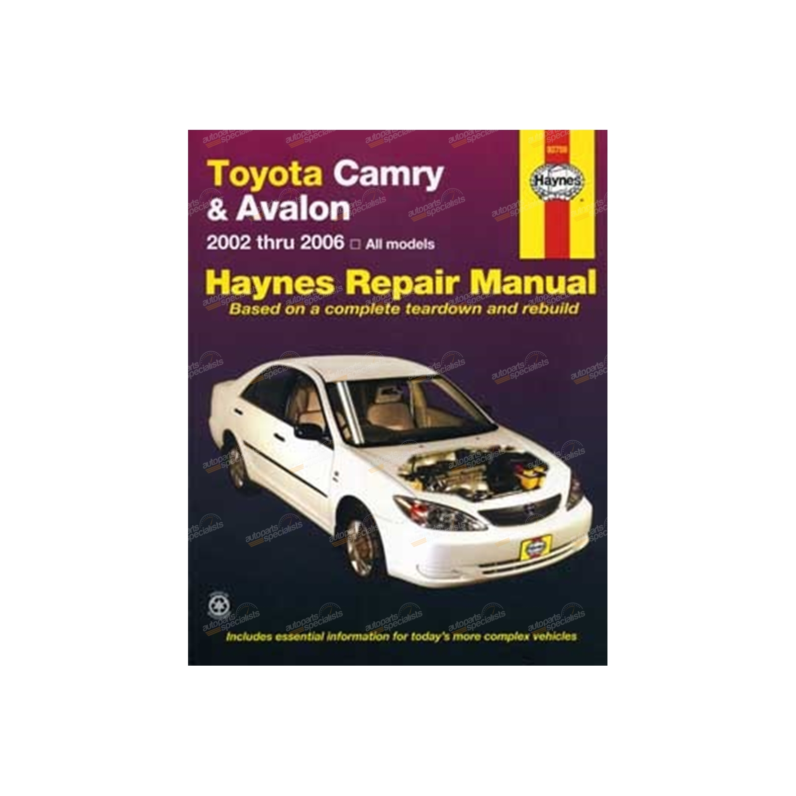 Haynes Car Repair Manual Book suits Toyota Camry ACV36 MCV36 02-06 2.4L 3.0