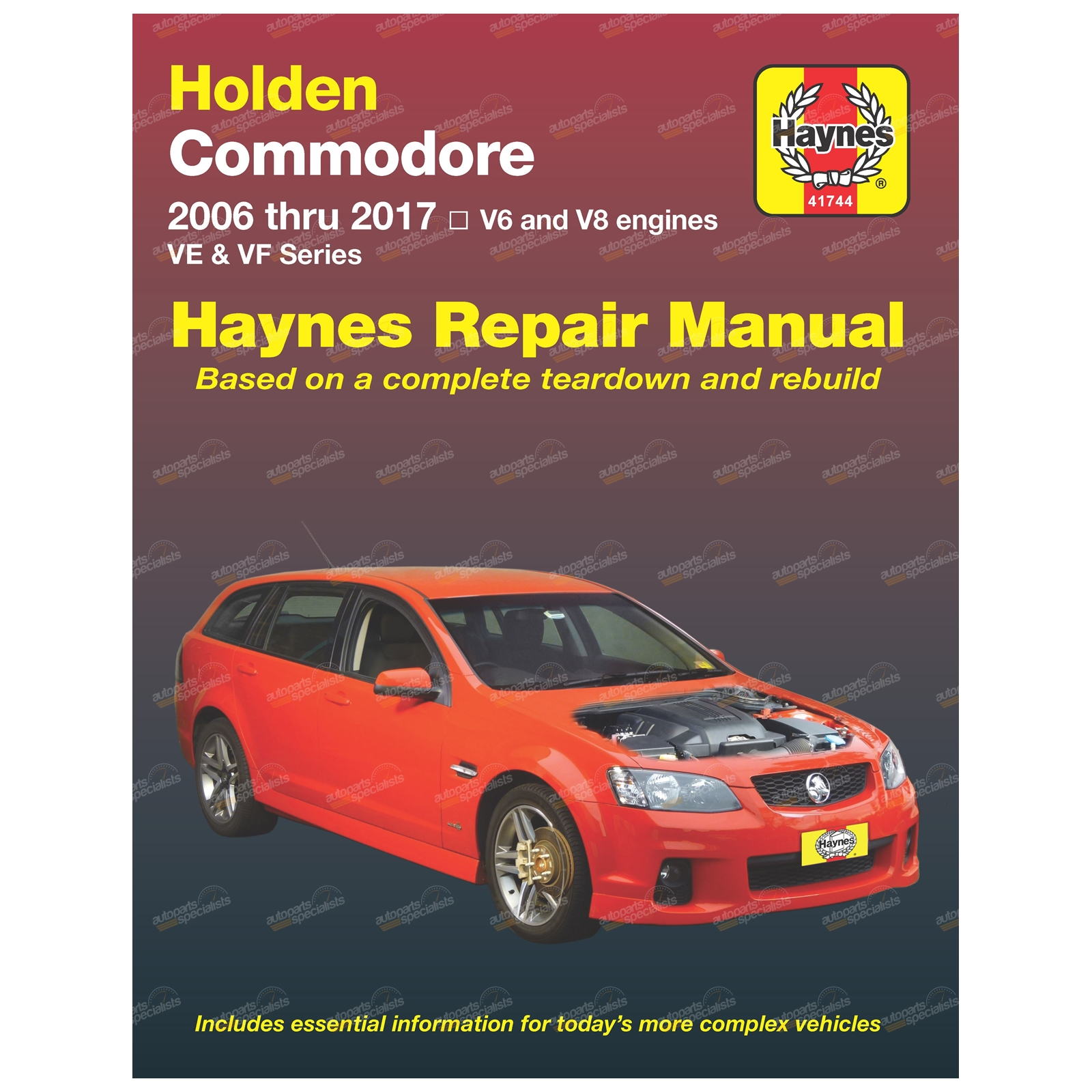 Haynes Car Repair Manual Book Commodore VE & VF 2006-2017 V6 + V8 Engines
