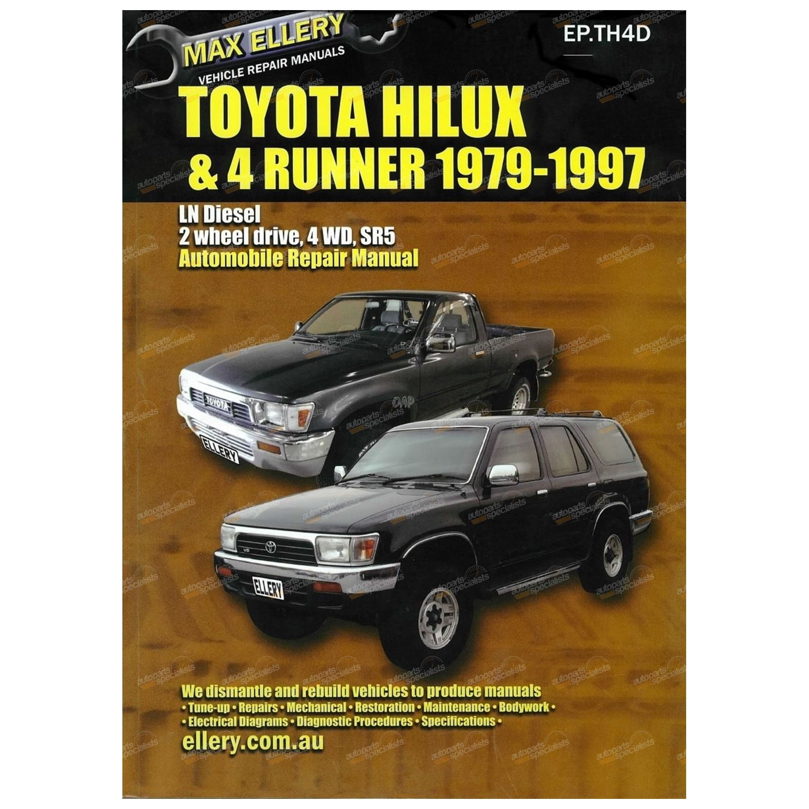 Workshop Manual suits Hilux 2L 2LT LN56 LN60 LN61 LN65 Max Ellery Repair  Book